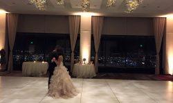 Wedding Reception Uplights (amber/gold color)
