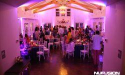 Purple Wedding Uplighting